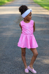 Pretty Pink Snake Print Mini Dress and Shorties