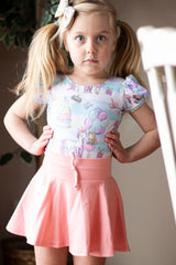 Better Dressed Childs pink mini dance wear skirt in soft organic knit