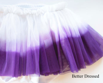 Dip Dyed Purple Tutu Shorties