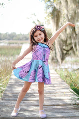 Summer mini butterfly dress