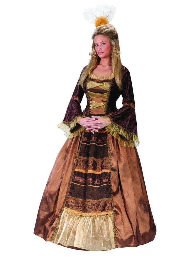 Adult Baroness Medieval Dress Costume Adult Large 12-14
