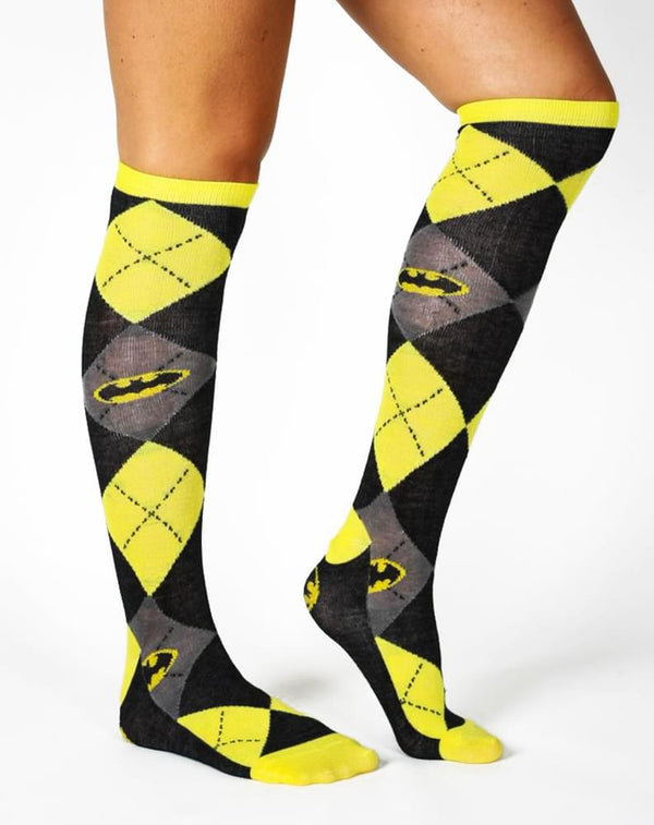 Batman Argyle Knee High Socks