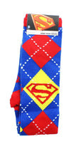 Superman Argyle Cape Knee High Socks