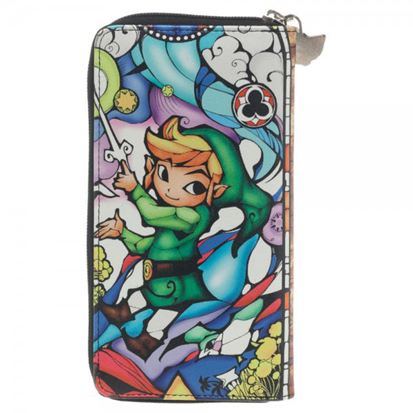 The Legend of Zelda Animated Link Zip Around Clutch Wallet