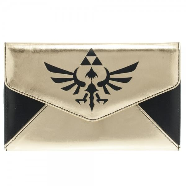 Zelda Logo Gold & Black Envelope Wallet