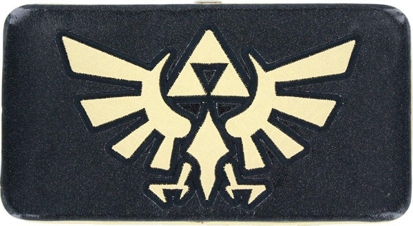 Nintendo Zelda Triforce Logo Gold & Black Hinged Wallet