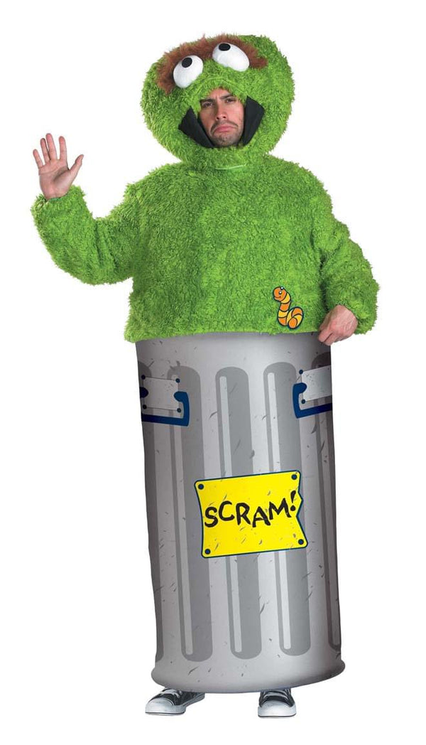 Sesame Street Oscar The Grouch Adult Costume X-Large 42-46