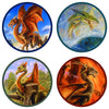 "Bob Eggleton's ""Dragons"" 4-Piece Coaster Set"
