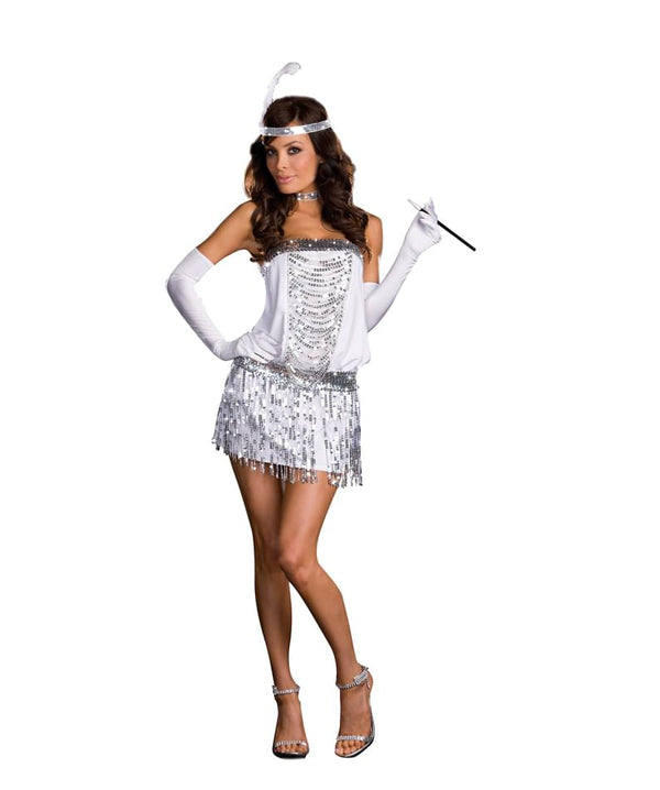 Sexy Toe Tappin' Flappa 20's Flapper Girl Costume Adult