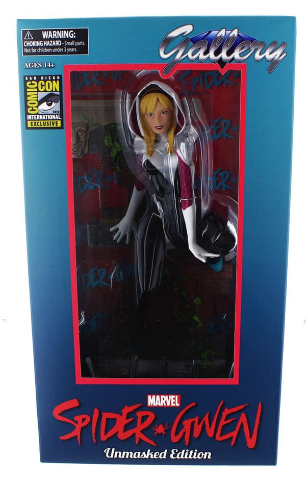 "Diamond Select Marvel Gallery Spider Gwen Unmasked 9"" SDCC Exclusive PVC Figure"