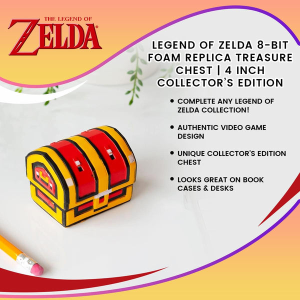 Legendary 8-Bit Foam Treasure Chest Replica - 4 Inch