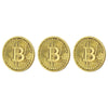 Bitcoin Gold Plated 3 Piece Replica Set – Collector's Premium Quality Prop Money