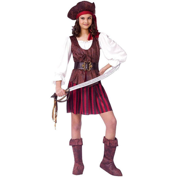 High Seas Female Buccaneer Pirate Child Costume Medium