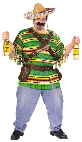 Tequila Pop 'n' Dude Adult Costume Plus Size