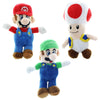 "Nintendo 7"" Plush Set of 3: Mario, Luigi and Toad"
