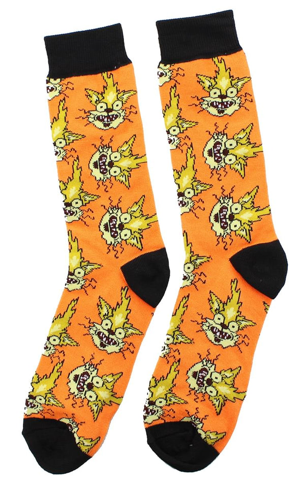 Rick and Morty Crew Socks Set of 3: Mr Meeseeks, Squanchy Cat, Rick and Morty