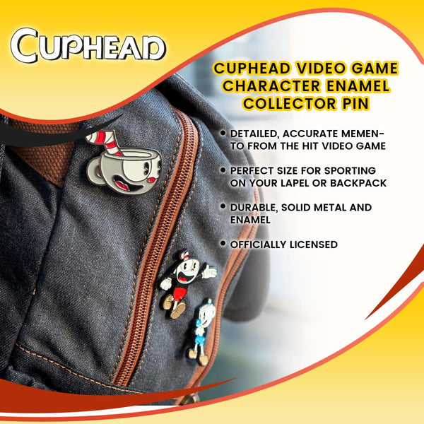 Cuphead Video Game Character Enamel Collector Pin