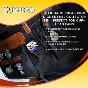 OFFICIAL Cuphead King Dice Enamel Collector Pin