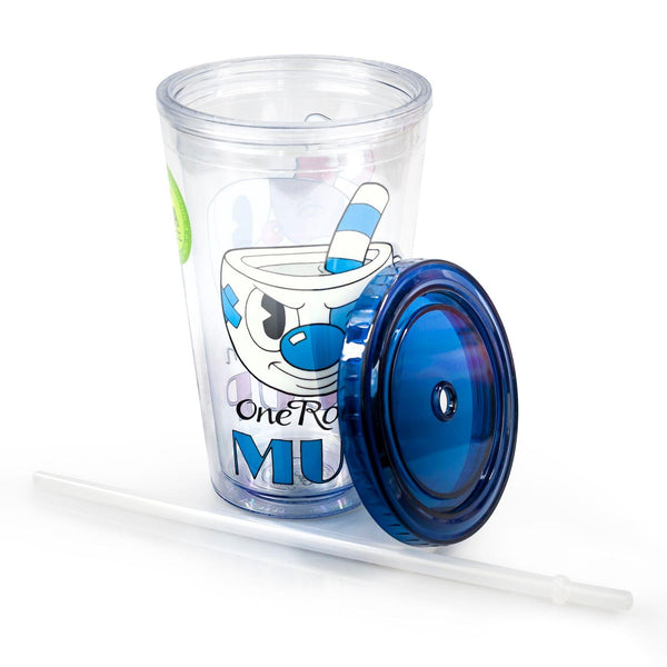 Cuphead One Rough/Tough Cup 16oz Carnival Cup w/ Straw & Lid