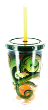 Dragon Ball Z Travel Cup Bundle w/ Straws & Screw-Down Lids