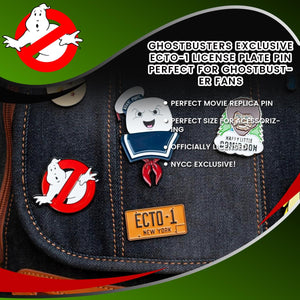 Ghostbusters Exclusive Ecto-1 License Plate Pin