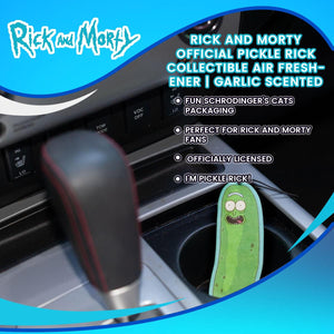 Rick And Morty Official Pickle Rick Collectible Air Freshener