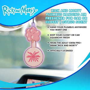 Rick and Morty Plumbus Hanging Air Freshener for Car or Closet