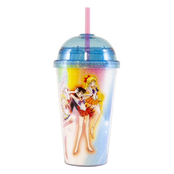 Sailor Moon 16oz. Carnival Cup with Glitter Dome Lid