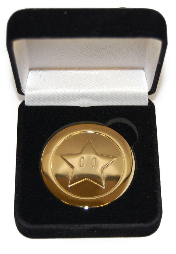 Super Mario Brothers Collector's Gold Coin in Velvet Box