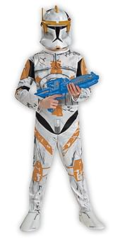 Star Wars Animated Clonetrooper Commander Cody Child Costume Small