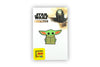 Star Wars Toynk Exclusive Enamel Pin Mandalorian Cartoon Child Baby Yoda Ears Up