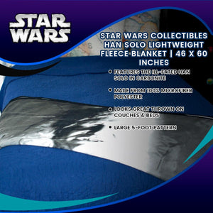 Star Wars Collectibles Han Solo Lightweight Fleece Blanket