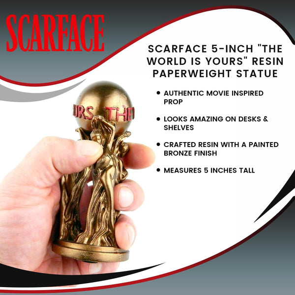 "Scarface 5-Inch ""The World Is Yours"" Resin Paperweight Statue"
