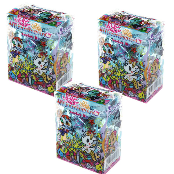 Tokidoki Mermicornos Series 2 Blind Box Mini Figure, Lot of 3