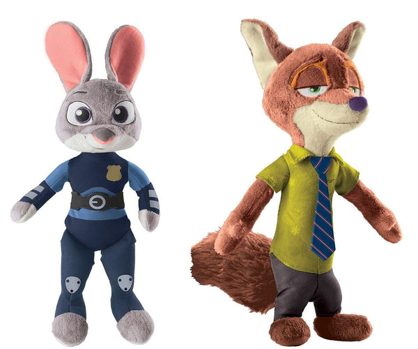 "Disney Zootopia 13.5"" Talking Plush Set: Nick Wilde and Officer Judy Hopps"
