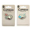 Cuphead And Mugman Enamel Pins, Set Of 2