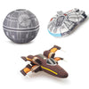 "Star Wars 12"" Vehicle Plush Set: Millennium Falcon, X-Wing Fighter, & Death Star"