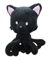 "Tentacle Kitty 8"" Plush Midnight Black"