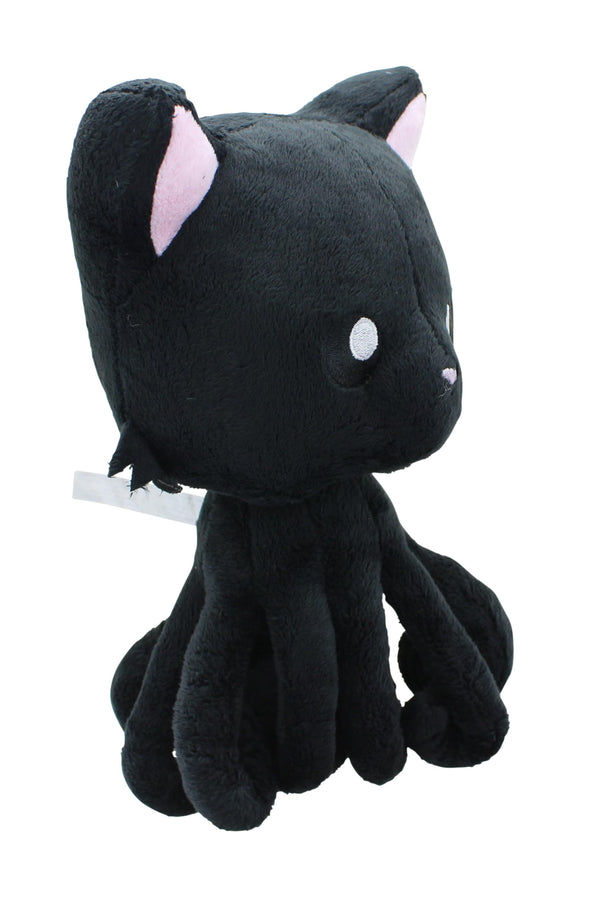 Tentacle Kitty 8 Inch Plush Midnight Black