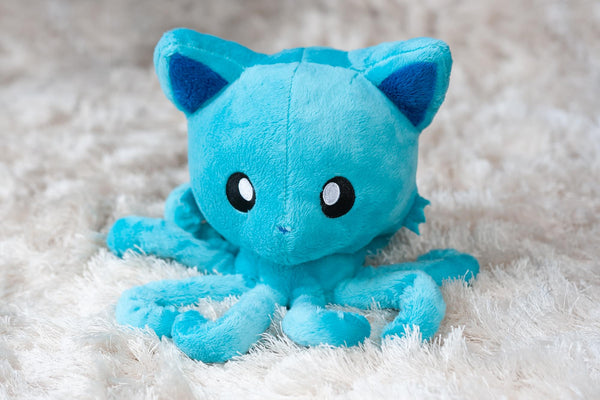 "Tentacle Kitty 8"" Plush Paradise Blue Classic Edition"