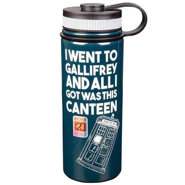"Doctor Who TARDIS ""I Went To Gallifrey..."" 18oz Stainless Steel Water Bottle"