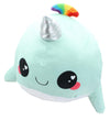 Glitter Galaxy 6-Inch Rainbow Spout Blue Narwhal Collectible Plush