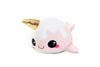 Glitter Galaxy 6-Inch Ice Cream Cone Horn Pink Narwhal Collectible Plush