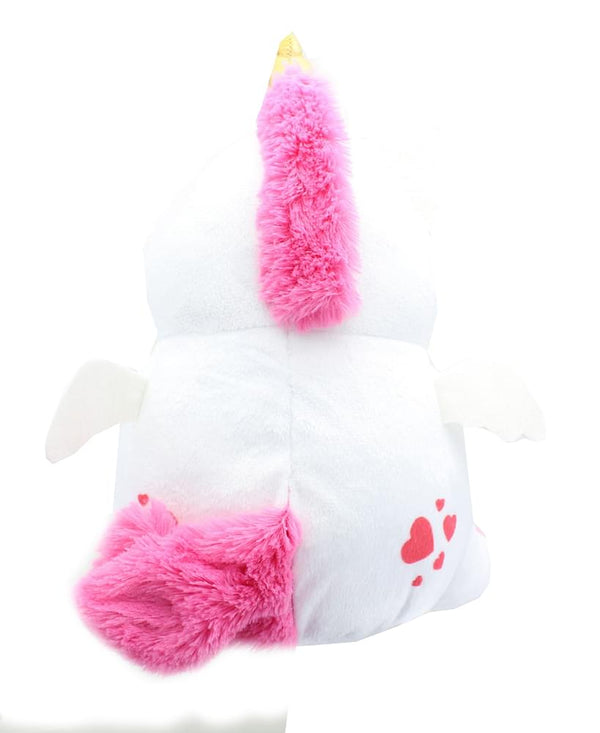 Glitter Galaxy 6-Inch Pink Hair White UniCow Collectible Plush
