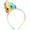Glitter Galaxy Plush Rainbow Poop Emoji Child Costume Headband