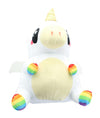 Glitter Galaxy 6-Inch Rainbow Hair White UniCow Collectible Plush