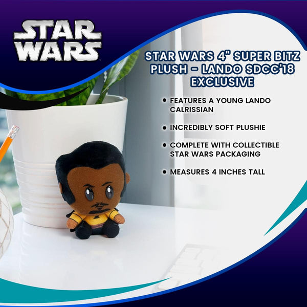 "Star Wars 4"" Super Bitz Plush - Lando SDCC'18 Exclusive"