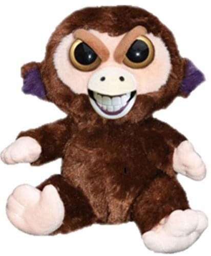 "Feisty Pets 8"" Plush, Grandmaster Funk the Monkey (Sly Grin)"