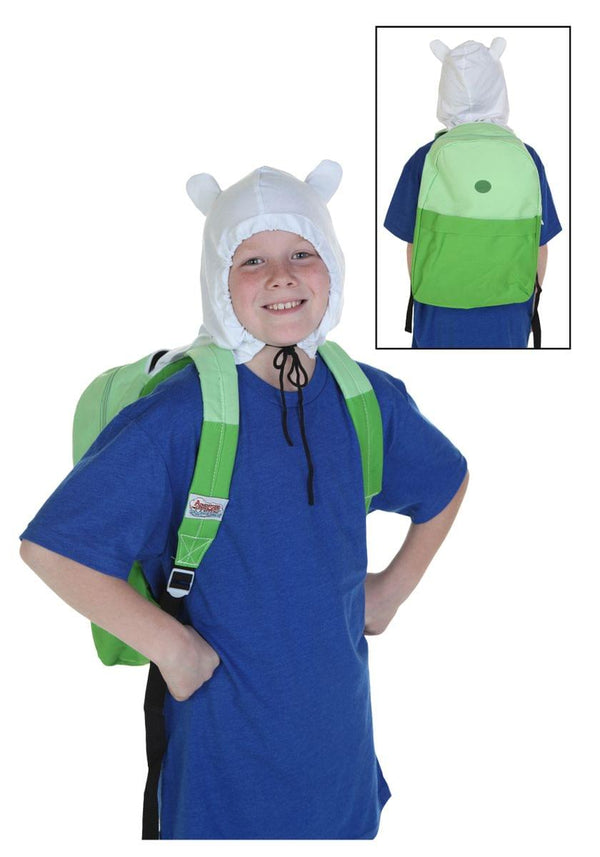 Adventure Time Finn Hood Green Back Pack