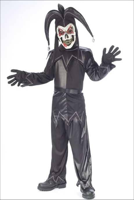 Twisted Jester Black Costume Child Large